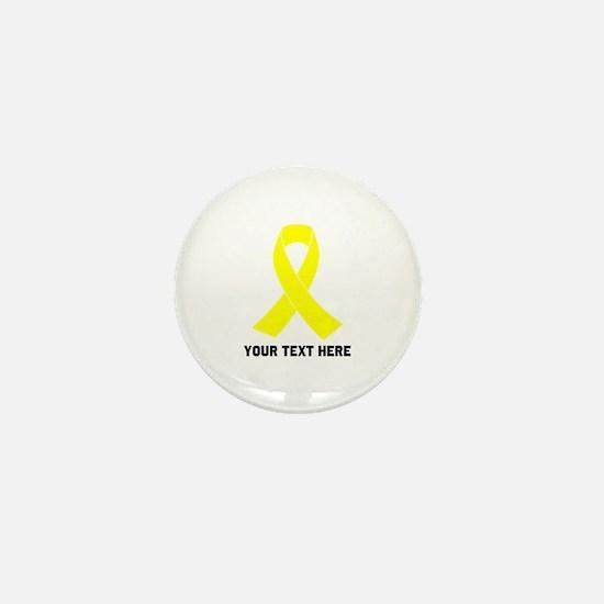Yellow Ribbon Awareness Mini Button
