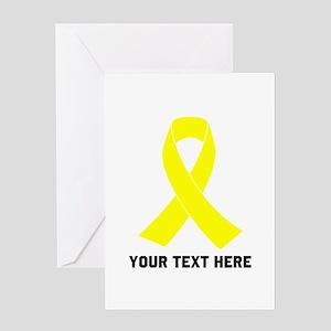 Yellow Ribbon Awareness Greeting Card