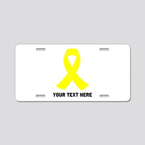 Yellow Ribbon Awareness Aluminum License Plate