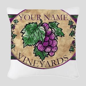 wino Woven Throw Pillow