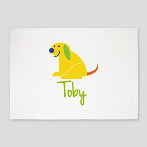 Toby Loves Puppies 5'x7'Area Rug