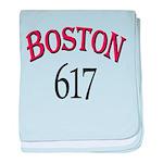 Boston 617 baby blanket