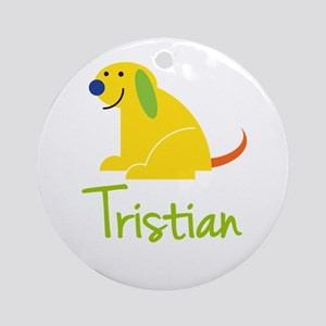 Tristian Loves Puppies Ornament (Round)