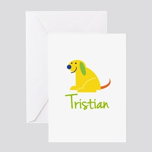Tristian Loves Puppies Greeting Card