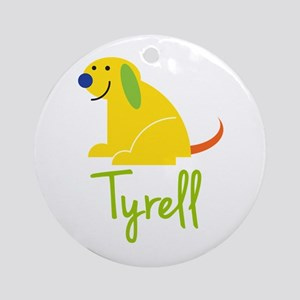 Tyrell Loves Puppies Ornament (Round)