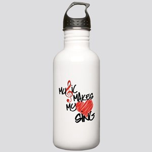 Singing Heart Stainless Water Bottle 1.0L