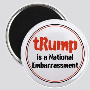 trump is a national embarrassment Magnets