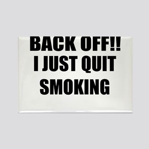 BACK OFF I JUST QUIT SMOKING (CENTER DESIGN) Recta