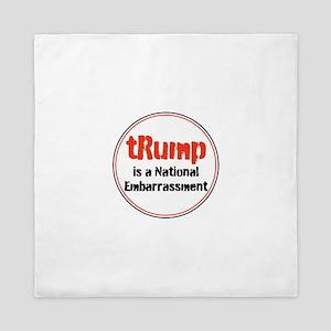 trump is a national embarrassment Queen Duvet