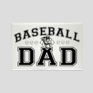 Baseball Dad Rectangle Magnet