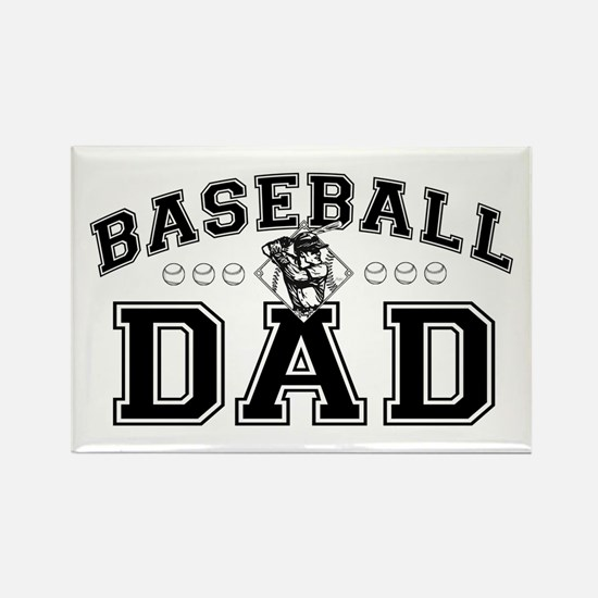Baseball Dad Rectangle Magnet