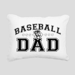 Baseball Dad Rectangular Canvas Pillow