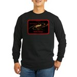 Idiotic Design Long Sleeve Dark T-Shirt