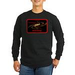 Idiotic Design Long Sleeve Dark T-Shirt