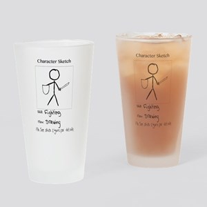 Character Sketch Drinking Glass