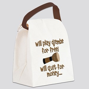 funny djembe Canvas Lunch Bag