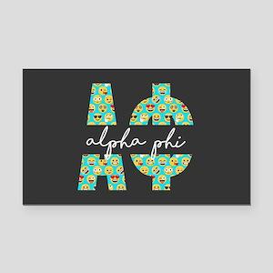Alpha Phi Letters Emoji Rectangle Car Magnet