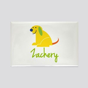 Zachery Loves Puppies Rectangle Magnet