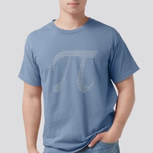 Pi Symbol with Numbers Mens Comfort Colors Shirt