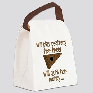 funny psaltery Canvas Lunch Bag