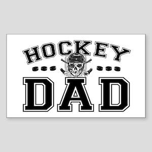 Hockey Dad Sticker (Rectangle)