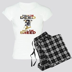PUNISH THE DEED NOT THE BREED Pajamas