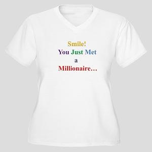 Smile! You Just Met a Millionaire... Plus Size T-S