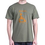 damnit.wheelchair Olive/Orange T-Shirt