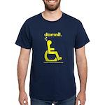 damnit.wheelchair Navy/Yellow T-Shirt