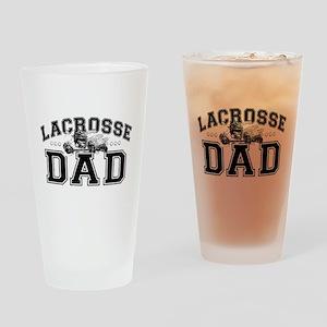 Lacrosse Dad Drinking Glass