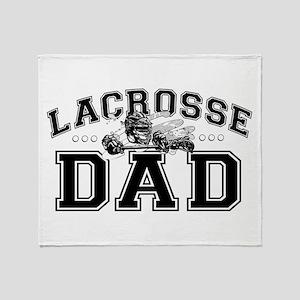 Lacrosse Dad Throw Blanket