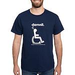 damnit.wheelchair Navy/White T-Shirt