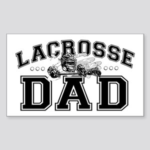 Lacrosse Dad Sticker (Rectangle)