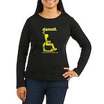 damnit.wheelchair Womens LongSleeve Brown/Yellow T