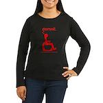 damnit.wheelchair Women's Long Sleeve Brown/Red T
