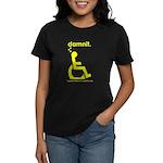 damnit.wheelchair Women's Black/Yellow T-Shirt