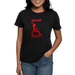 damnit.wheelchair Women's Black/Red T-Shirt