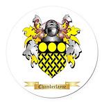 Chamberlayne Round Car Magnet