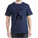 damnit.wheelchair Navy/Black T-Shirt