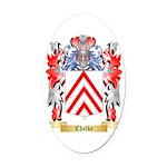 Chalke Oval Car Magnet