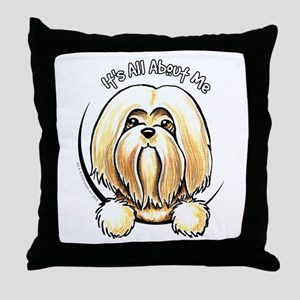 Lhasa Apso IAAM Throw Pillow