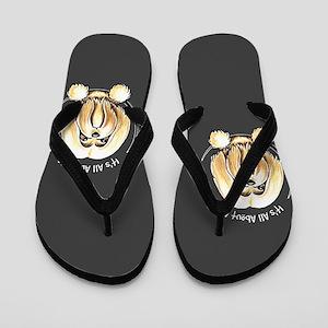 Lhasa Apso IAAM Flip Flops