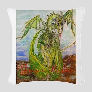 Fantasy Creature Woven Throw Pillow