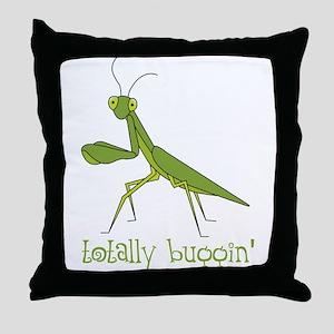 Totally Buggin Throw Pillow