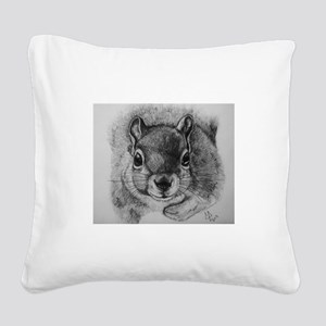 Squrrel Sketch Square Canvas Pillow