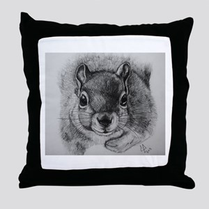 Squrrel Sketch Throw Pillow