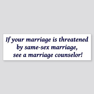 Marriage counselor Bumper Sticker
