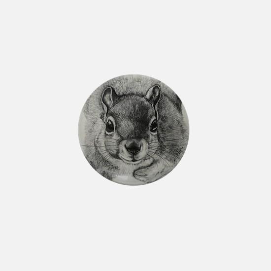 Squirrel Sketch Mini Button