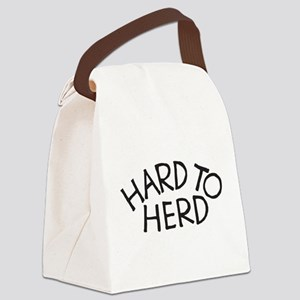 Hard to Herd (text) Canvas Lunch Bag