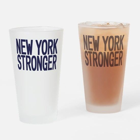 New York Stronger Drinking Glass